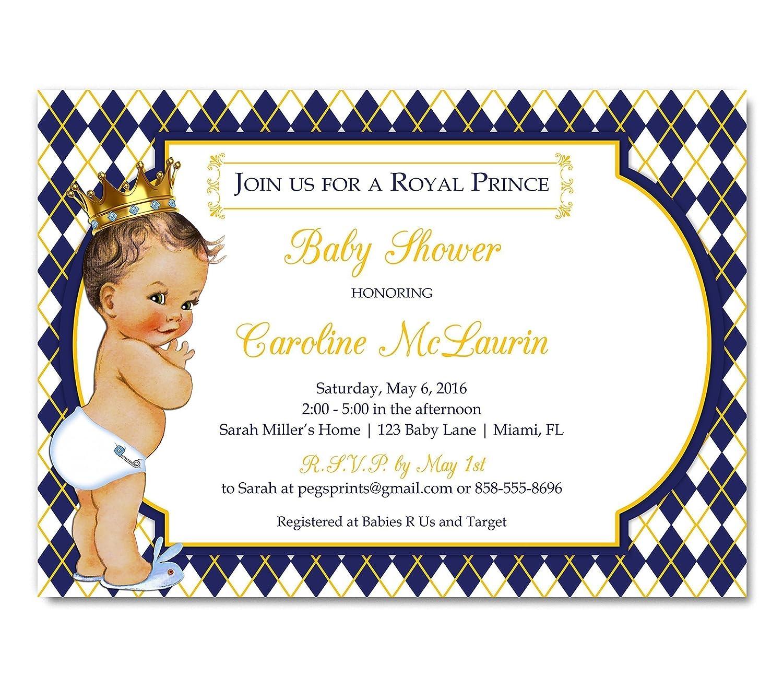 Amazon Royal Baby Shower Invitation Prince Baby Shower