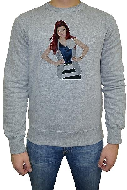 Ariana Grande Hombre Sudadera Jersey Pullover Gris Todos Los Tamaños   Mens Sweatshirt Jumper Pullover Grey