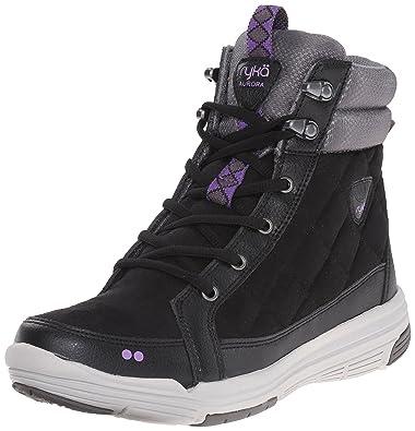 Ryka Women's Aurora Boot, Black/Steel Grey/Deep Lilac/Vapor Grey/