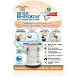 SinkShroom Chrome Edition Revolutionary Bathroom Sink Drain Protector Hair Catcher, Strainer, Snare