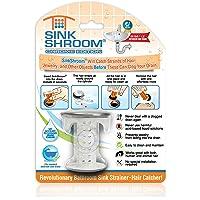 sinkshroom: níquel Edition revolucionario Cuarto de baño Fregadero Protector de desagüe Pelo Catcher, colador, Snare