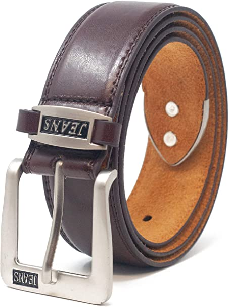 Mens 38Mm Real Leather Lined Jeans Belt By /'Ossi/'