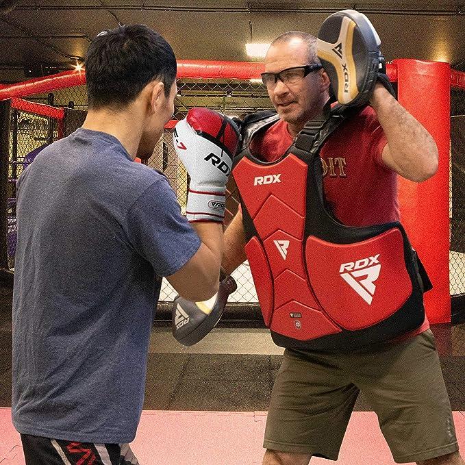 RDX petto Guard Boxing MMA Corpo Protettore Armour RIB SCUDO Kickboxing Allenamento