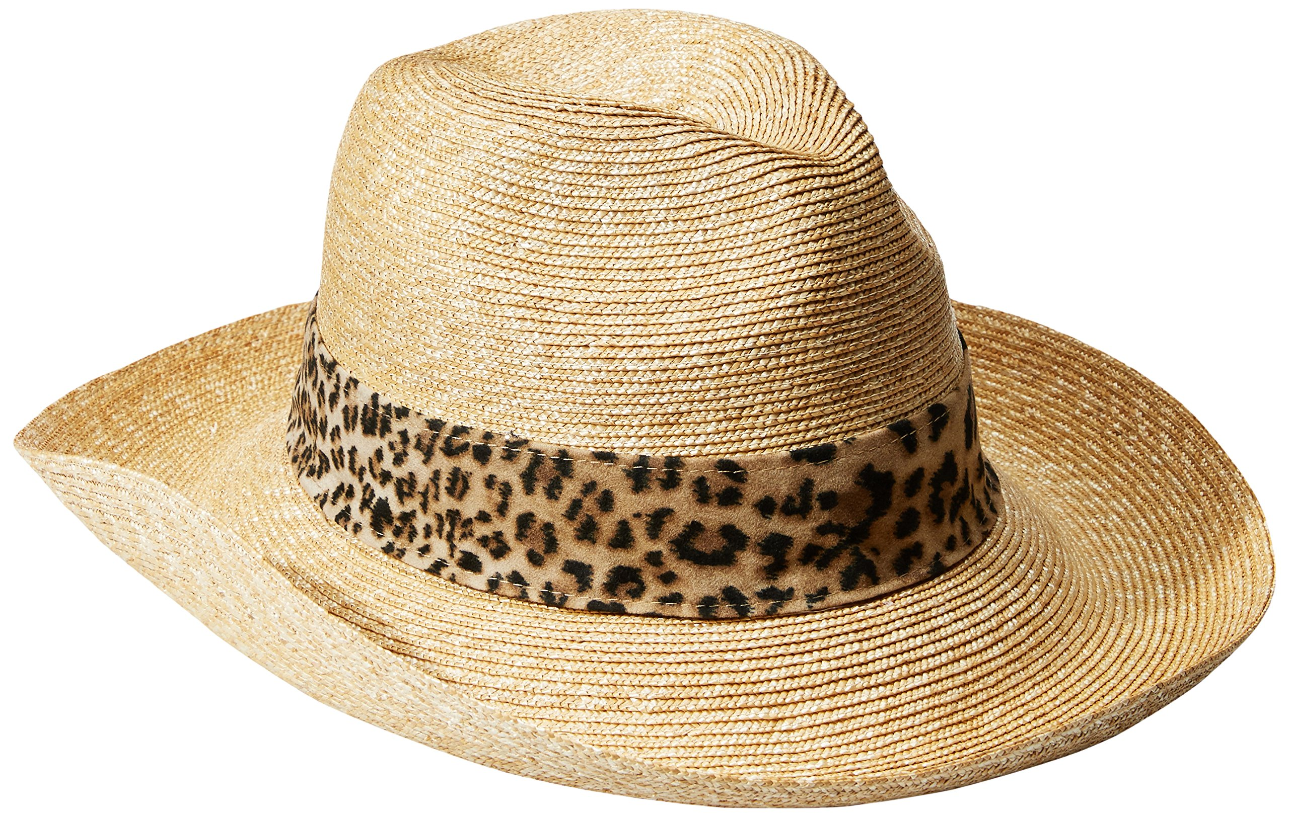 Gottex Women's Jungle Fever Sun Hat, Rated UPF 50+ For Max Sun Protection, Natural/Leopard, One Size