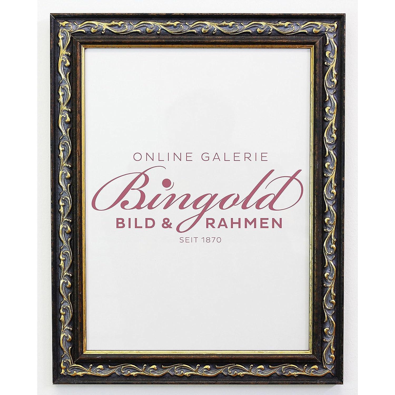 Bilderrahmen Braun Gold - - - Din A3 (29,7 x 42,0 cm) mit Normalglas - Antik, Barock - Alle Größen - Handgefertigt - Galerie-Qualität - WRF - Verona 4,4 103374