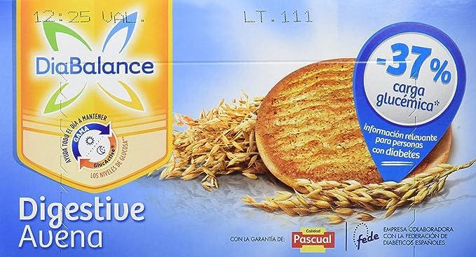 DiaBalance Galleta Digestive Avena - Paquete de 12 Cajas de Galletas de 204 gr - Total