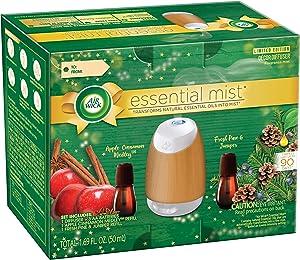 Air Wick Air Wick Essential Mist Fall Starter Kit (1 Diffuser + 2 Refills), Apple Cinnamon & Woodland Pine, 3 Count