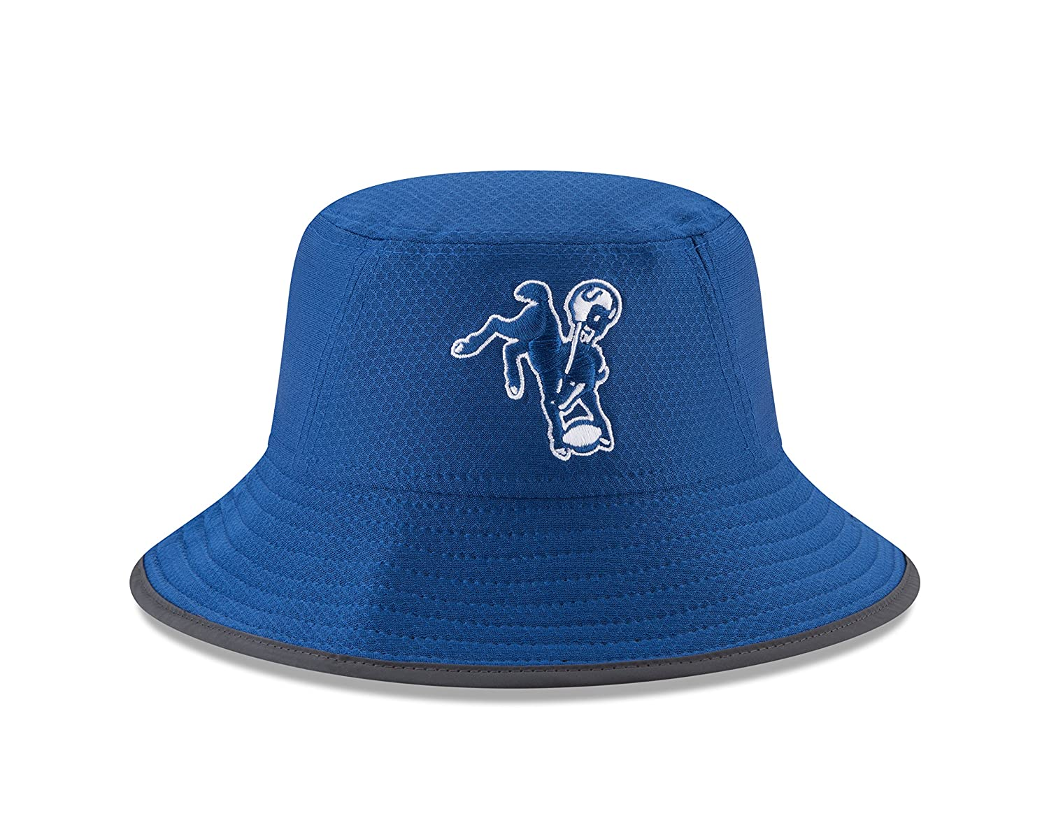 sports shoes fb444 c96b9 Amazon.com   Indianapolis Colts New Era 2017 Training Camp Official Bucket  Hat -Royal   Sports   Outdoors