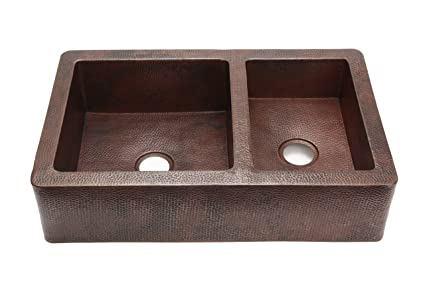 double bowl apron sinks, 25 apron front sinks, apron front farm sinks, copper farm sinks with apron, lowe's apron front sinks, on 60 40 copper farmhouse apron front kitchen sinks
