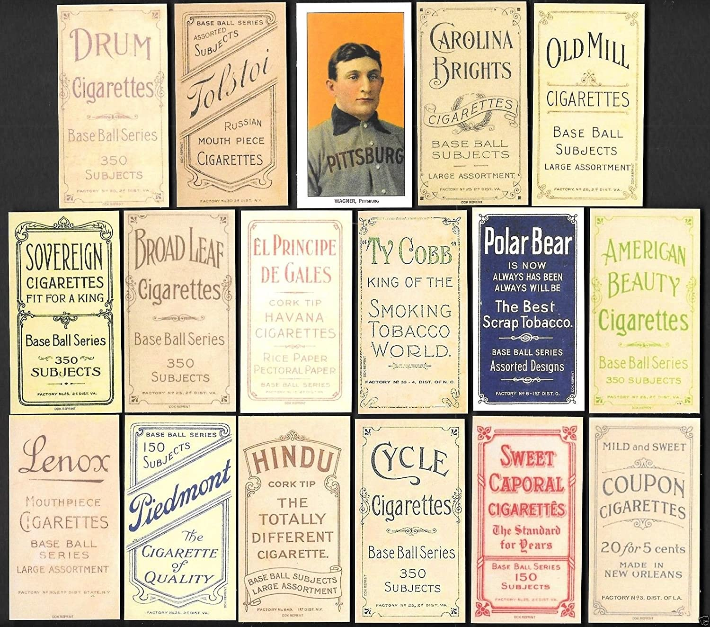 Honus Wagner 1909 T206 16 Card Baseball Reprint Lot With All 16