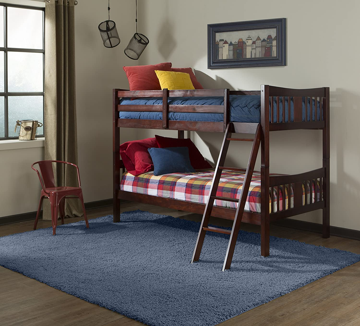 Amazon Storkcraft Caribou Solid Hardwood Twin Bunk Bed Cherry