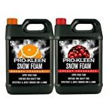 10L of Pro-Kleen Cherry & Orange Snow Foam with Wax - Super Thick & Non-Caustic Foam - Extremely Powerful & Easy To Use