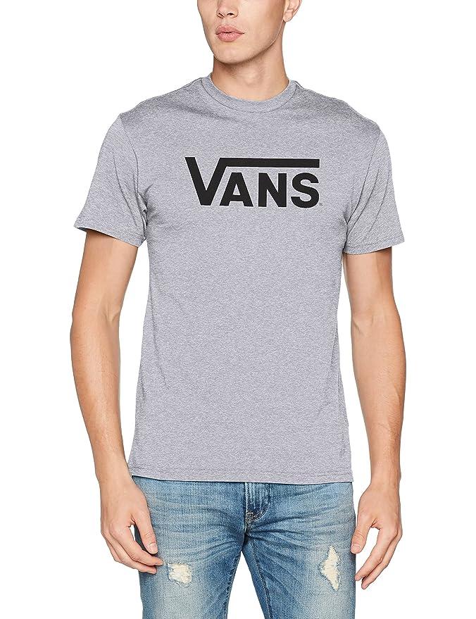 Vans Classic Herren T-Shirt Grau mit schwarzer Schrift
