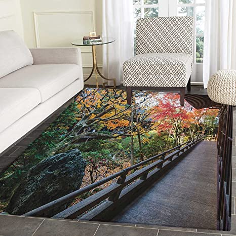 Amazoncom Japanese Area Rug Carpet Forest Landscape From A Wooden