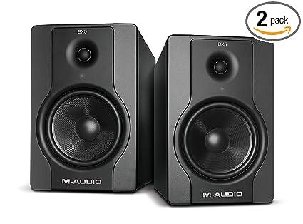 m audio bx5 d2 5 quot active 2 way studio monitor speakers pair