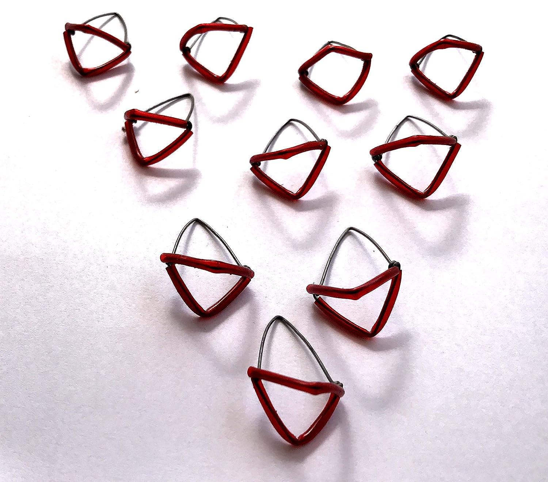 10 Sitar Mizrab Set, rot Kunststoff verpackt, Sitar Plektren ...