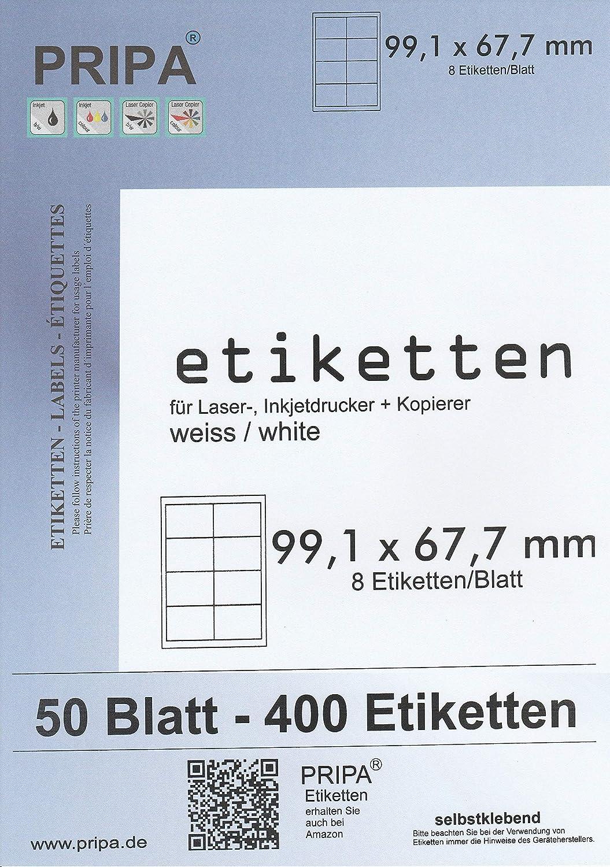 wei/ß PRIPA etichette 99.1/x 67.7/mm 99,1x67,7-50Blatt