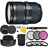 Canon EF 24–105mm f/4L is II USM Lens + 3 Piece Filter Set + 4 Piece Close Up Macro Filters + Lens Cleaning Pen + Pro…