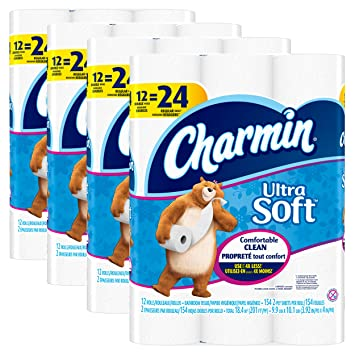 Charmin Ultra Soft Toilet Paper Bath Tissue Double Roll 48 Count