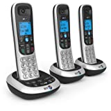 BT 2700 Nuisance Call Blocker Cordless Home Phone with Digital Answer Machine - Trio Handset Pack