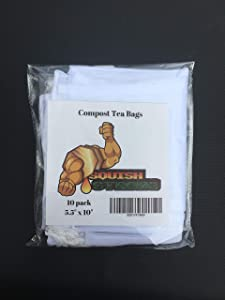 Compost Tea Filter Bags (10) | Compost Tea Filter Brew Bags | Create Your own enriched Water to Make Your Plants and Garden Thrive!