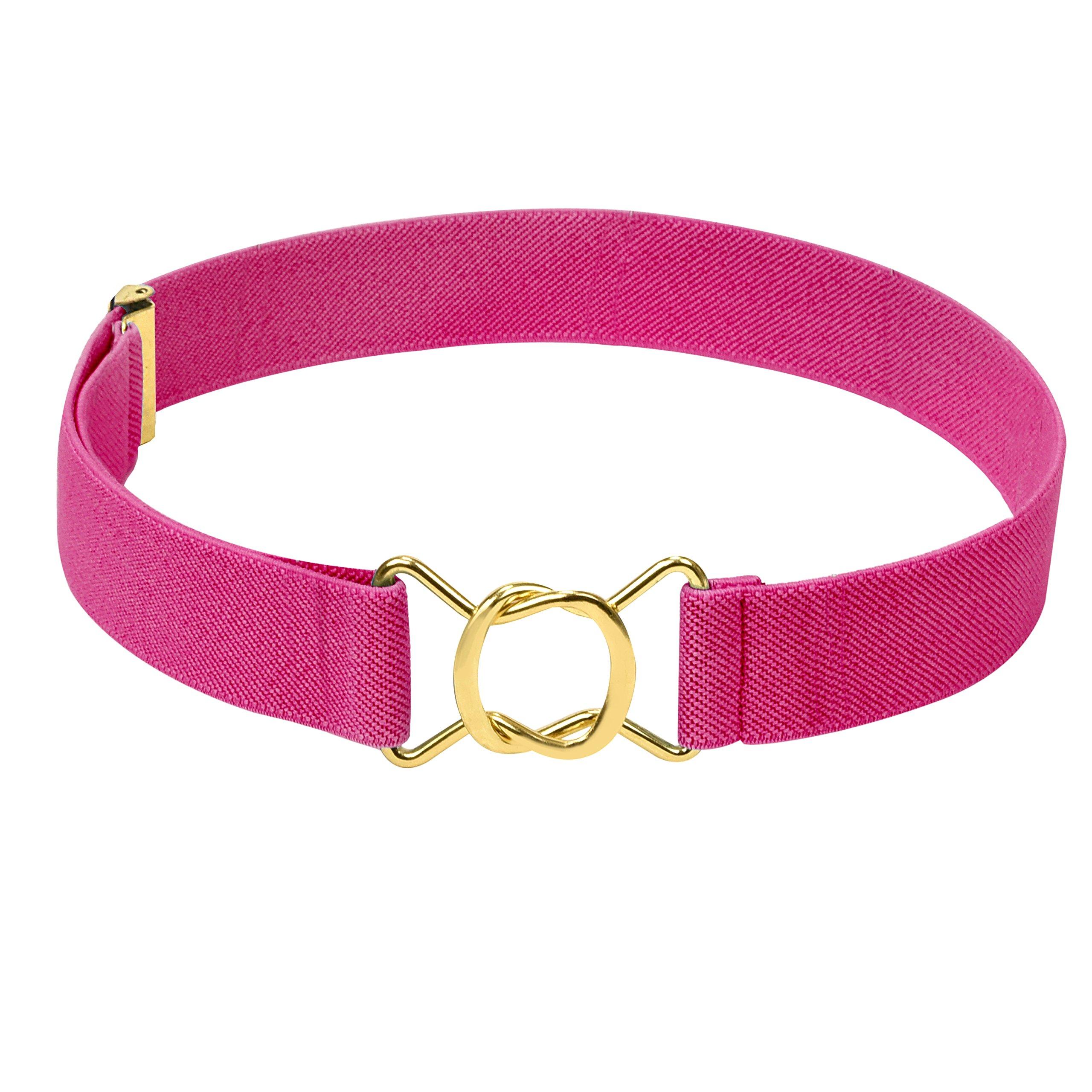 Hold'Em Kids Toddler Clasp Gold Buckle Belt-Fuschia