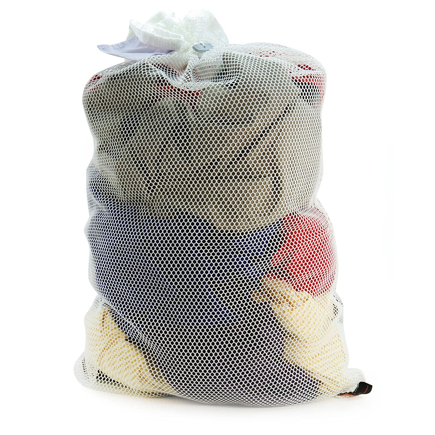 HANGERWORLD White Mesh Polyester Netting Laundry Bag 34inch x 24inch Washing Machine Tumbler Dryer