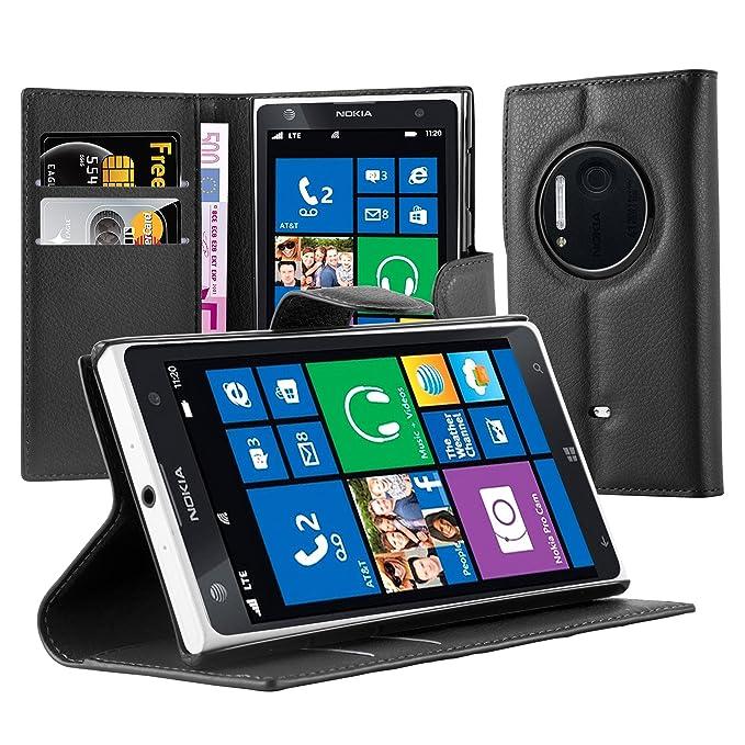 Cadorabo Funda Libro para Nokia Lumia 1020 en Negro