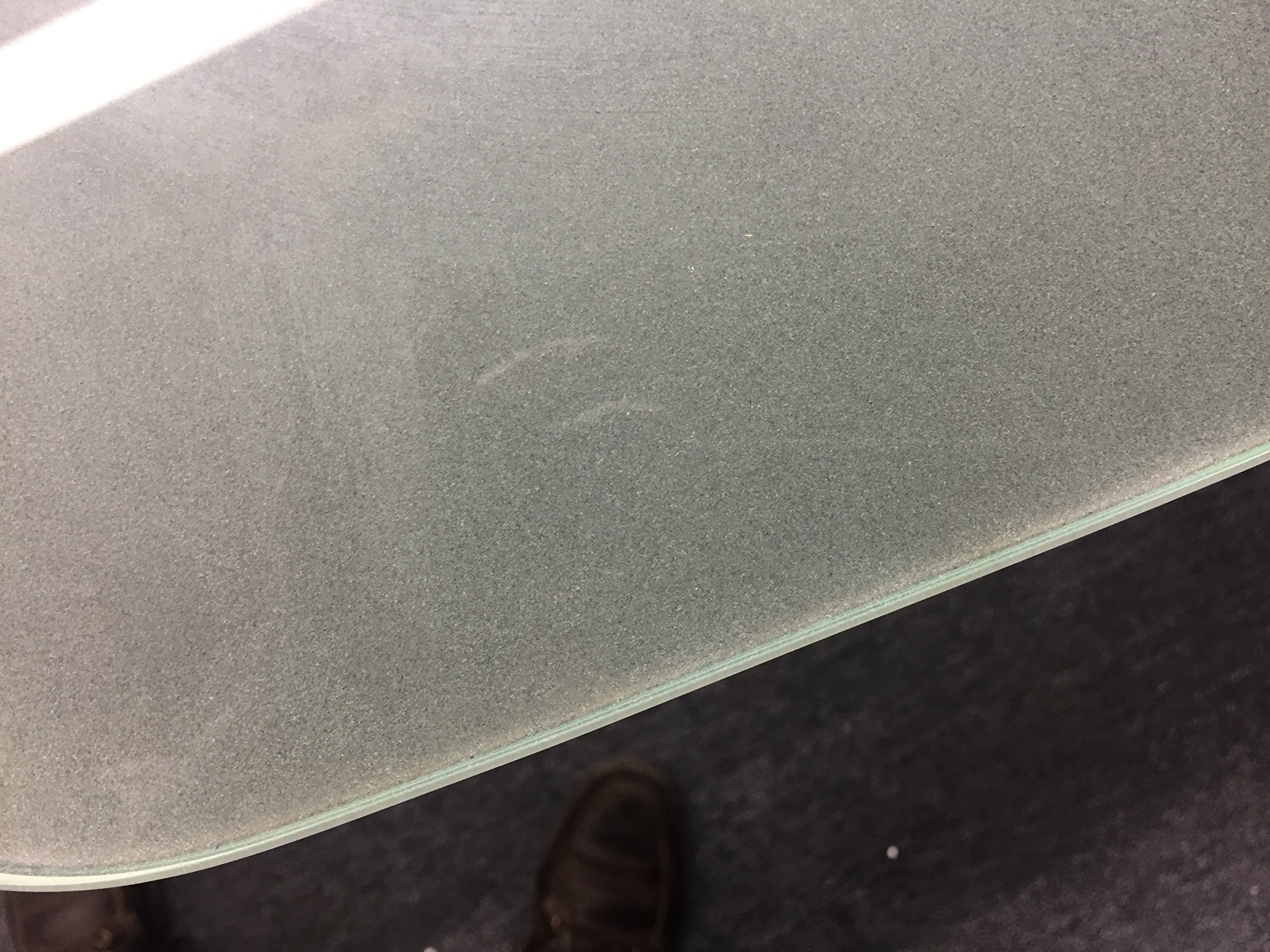 Modern Tempered Frosted Glass Conference table 95'' by 46'' Boat Shaped 3/4'' thick