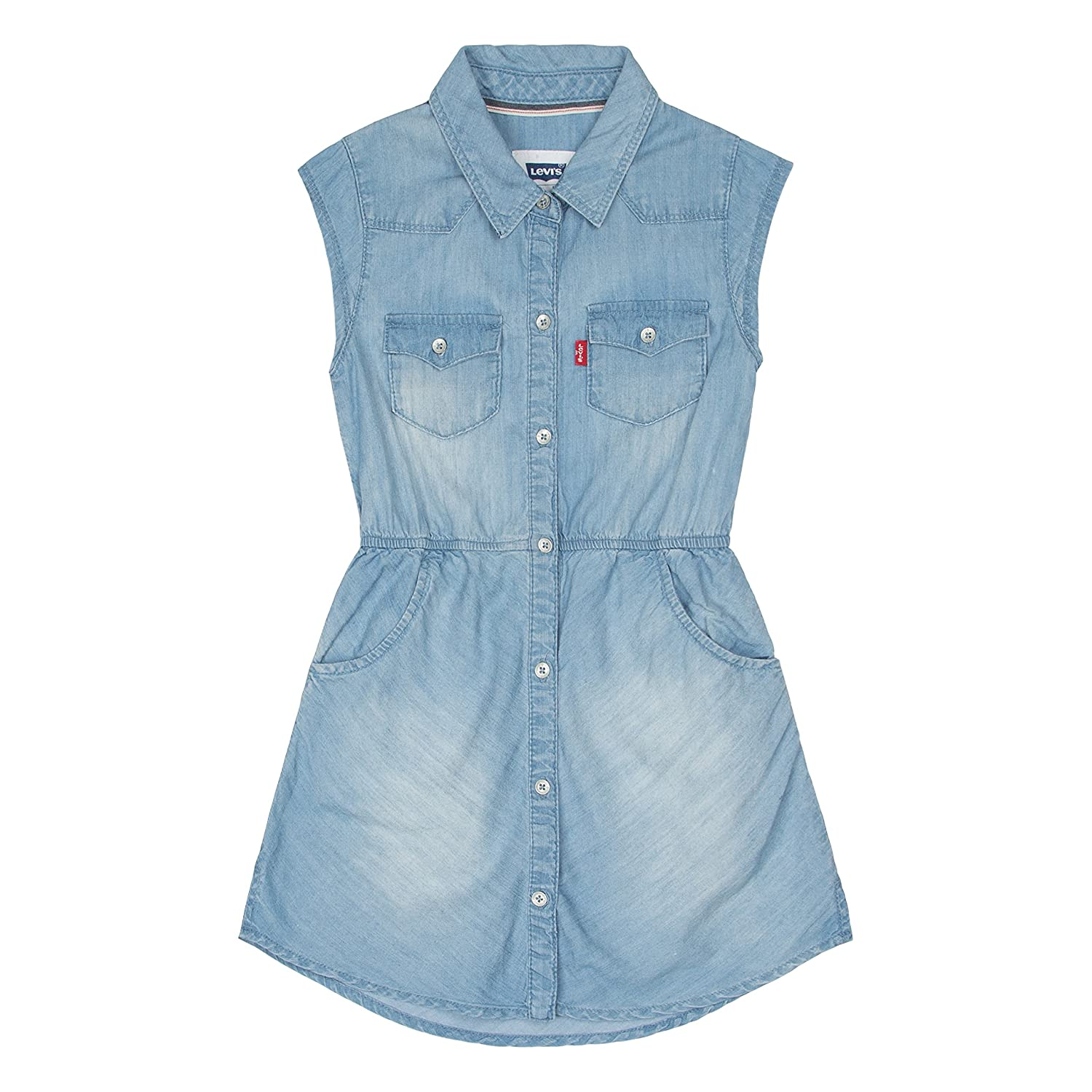 Amazon.com: Levi&39s Girls Levis Lightweight Denim Jumper Dress ...