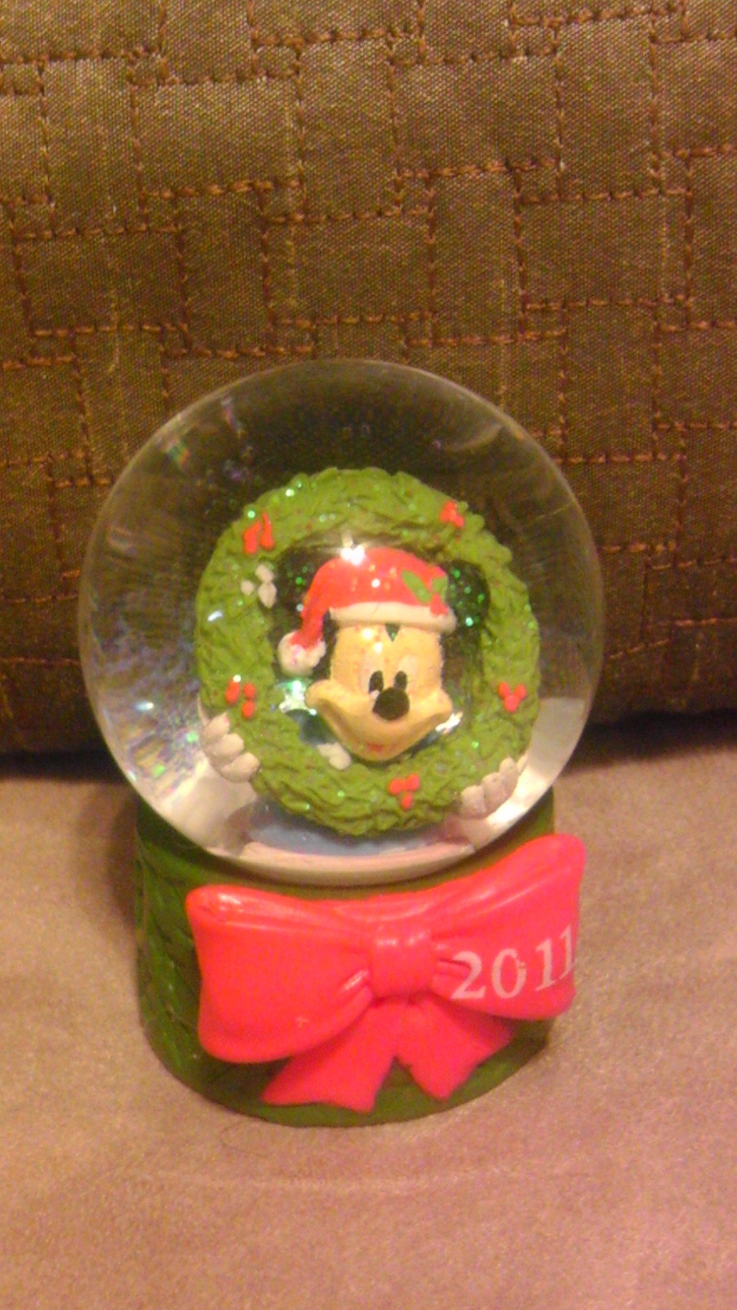 Disney Mickey Mouse 2011 Christmas Snowglobe from JC Penney