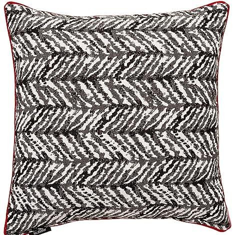 Baja Cojín (Blanco y Negro), diseño geométrico, algodón ...