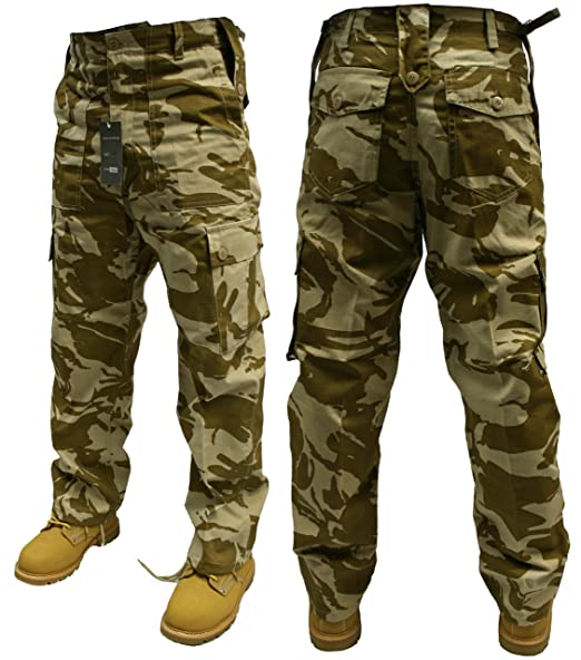 9ef9914605 Adults Camo Combat Trousers Color - British Desert Camo,Size -W30/L30