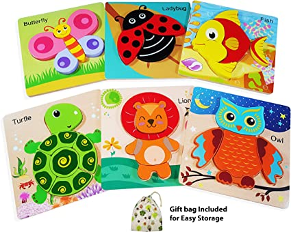 Animal Puzzle Set Baby Preschool Toy With Box Educational Kid Preschool Toy 6L
