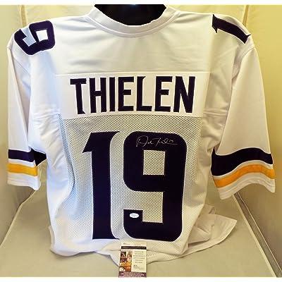 uk availability e12ea 01bbc Adam Thielen Signed/Autographed Vikings White Authentic ...