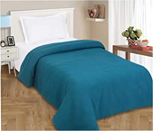 All Season Cotton Thermal Blanket in Waffle Weave -Perfect for Layering Any Bed, Teal Color Size 60x90 inch,Light Thermal Blankets,Twin Thermal Blankets,Breathable Blanket,Twin Thermal Blankets