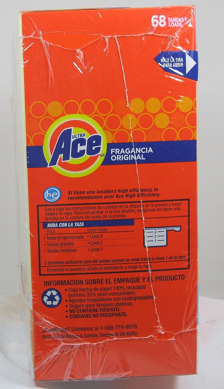 Amazon.com: Ace Ultra Original Scent, Powder Laundry Detergent, Acti Lift, 68 Loads, 95 oz: Health & Personal Care