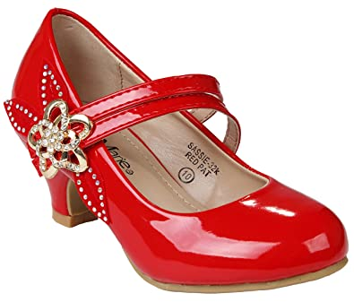 Amazon Jjf Shoes Kids Girls Sparkling Ankle Strap Rhinestone
