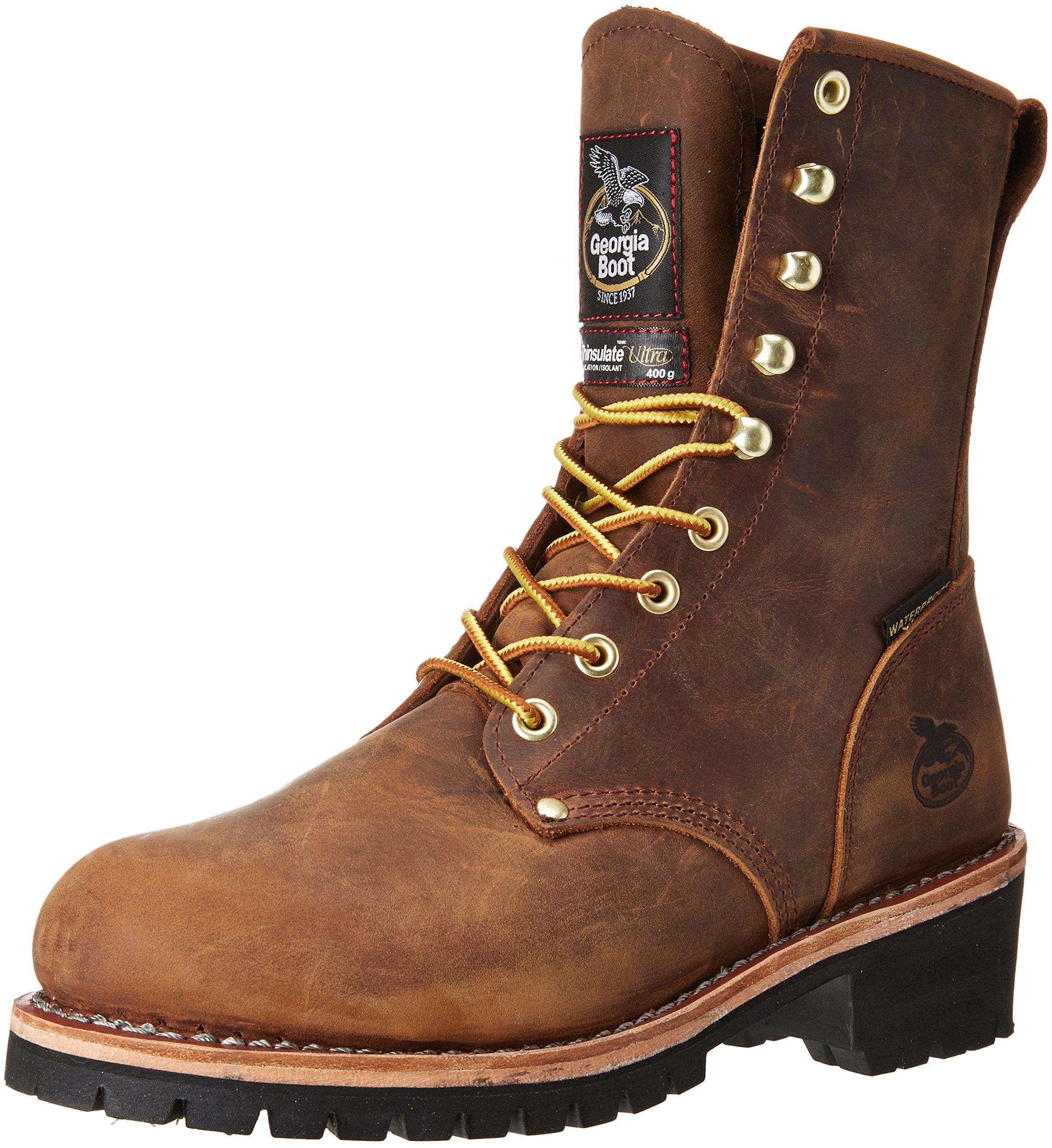 Georgia GB00065 Mid Calf Boot, Brown, 12 M US