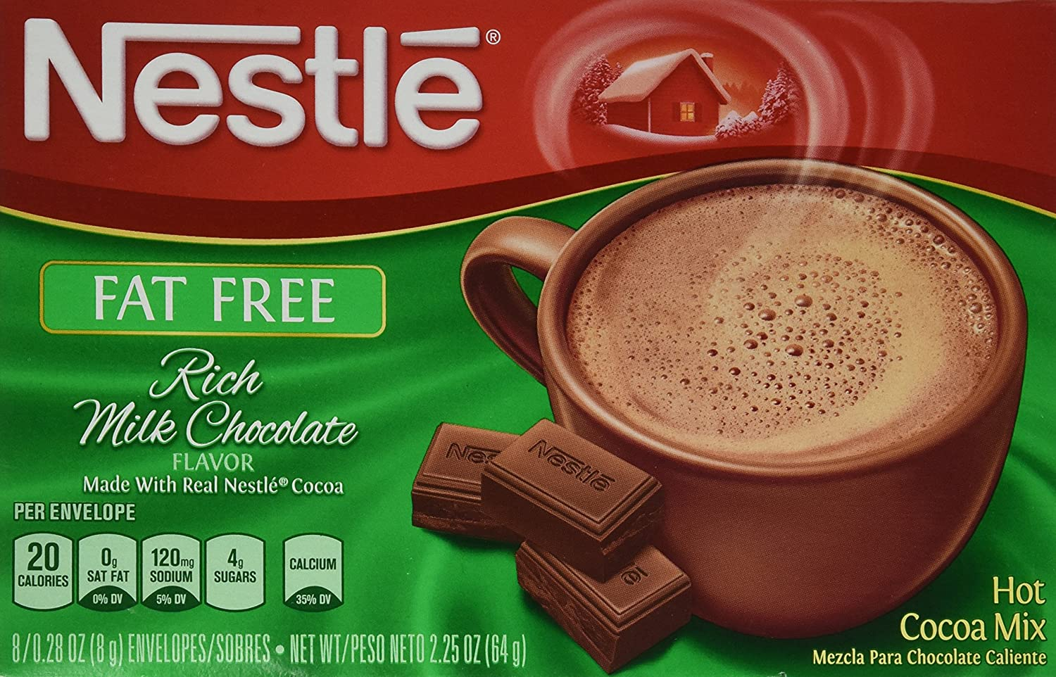 How much caffeine is in nestle hot chocolate