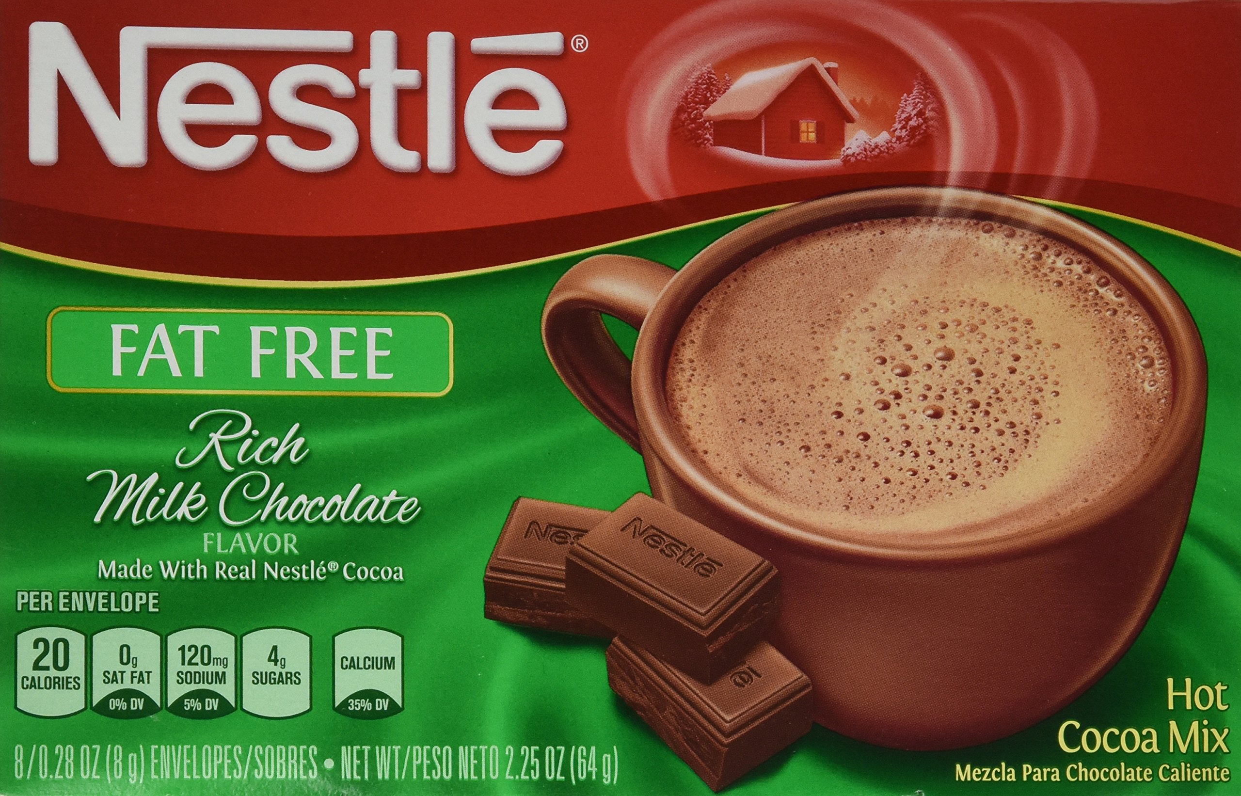 Amazon.com : Nestle Hot Cocoa Mix, Fat Free, 7.33-Ounce