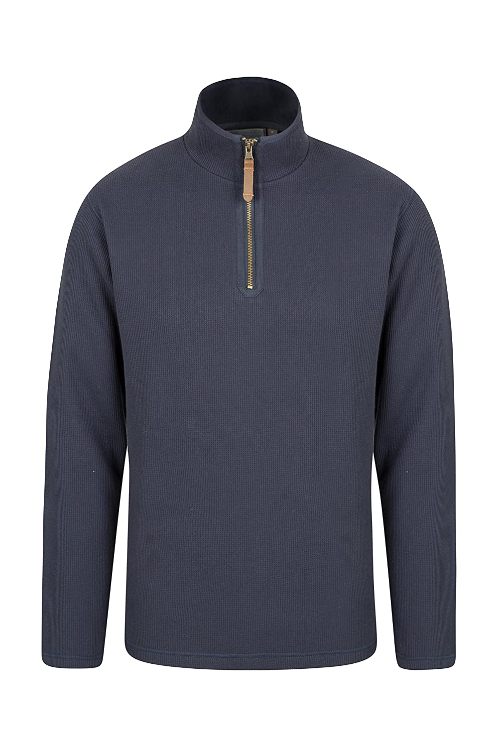 Mountain Warehouse Beta Mens Zip Neck Top - Warm All Season T-Shirt
