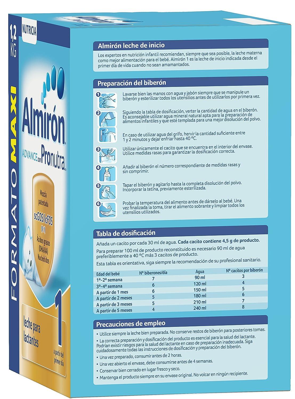 Almirón Advance con Pronutra 1 Leche de inicio en polvo a partir del primer día - 1,2 kg: Amazon.es: Amazon Pantry