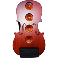 MOREYES Cello Endpin Stopper Wooden Anchor Rest for Cello Anti Slip (Red)