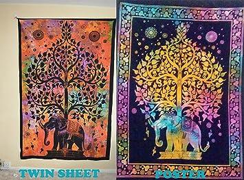 Ava Juego de 2 póster de Mandalas Indias Impreso a Mano + Doble Hoja para Colgar en la Pared Tradicional Decorativo Super Bundle: Amazon.es: Hogar