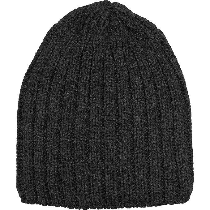 e665c82fdae TeddyT s Men s Chunky Ribbed Knit Winter Beanie Hat (Black)  Amazon.co.uk   Clothing