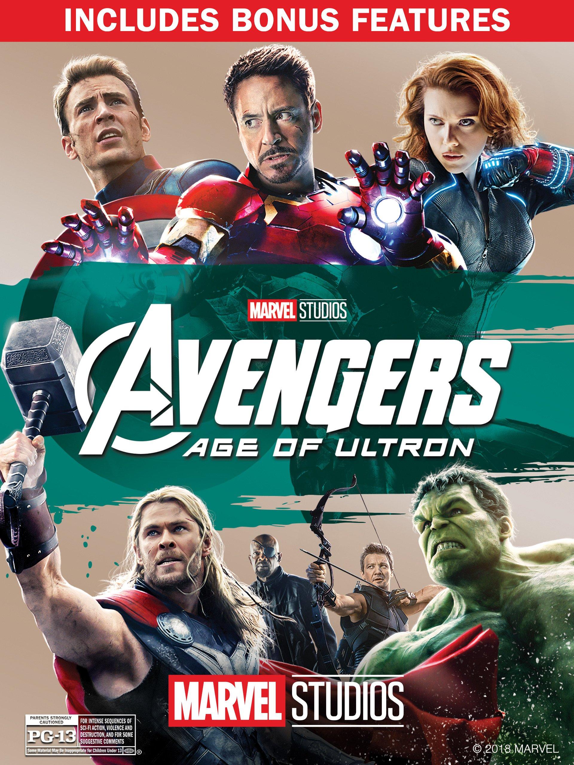 amazon com marvel s avengers age of ultron plus bonus features
