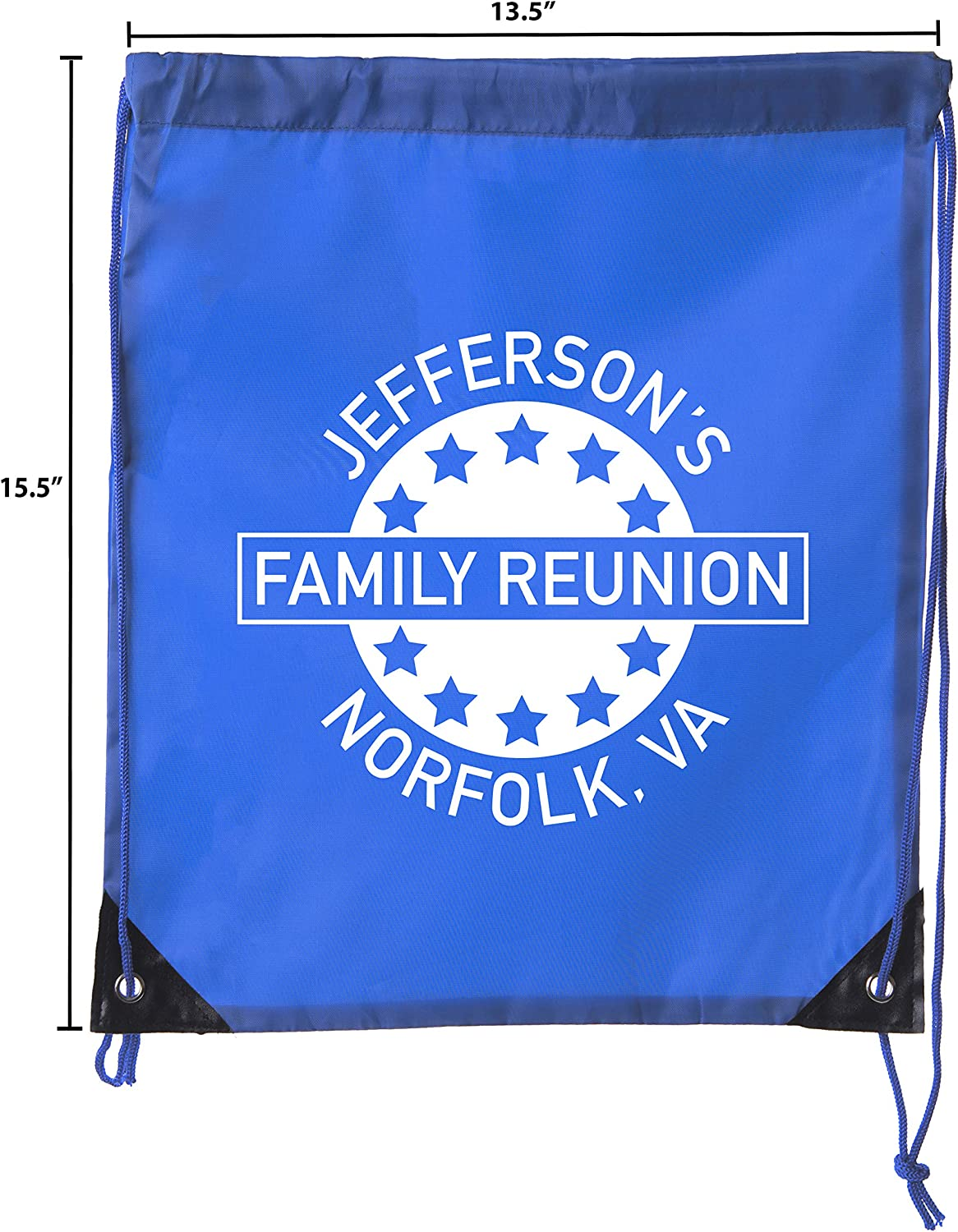 Star Emblem Custom Family Name and Location Family Reunion Party Favor Bags