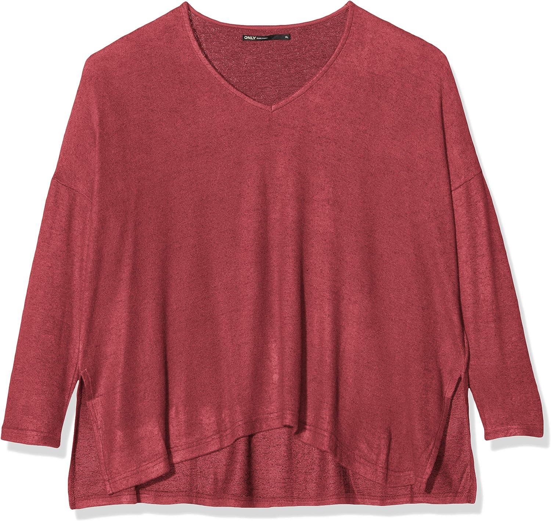 ONLY Damen Onlkleo L//S V-Neck KNT Noos Pullover