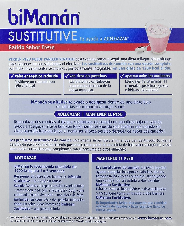 Bimanan Batido Sustitutivo Fresa 6Sbrs - 1 Unidad: Amazon.es ...